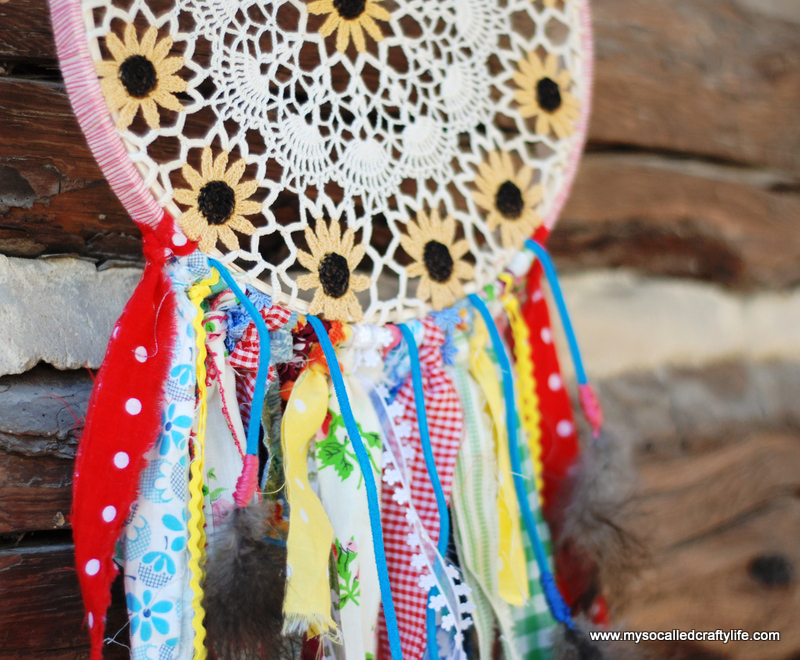 diy vintage doily dreamcatcher