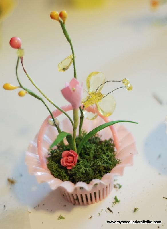 add floral picks