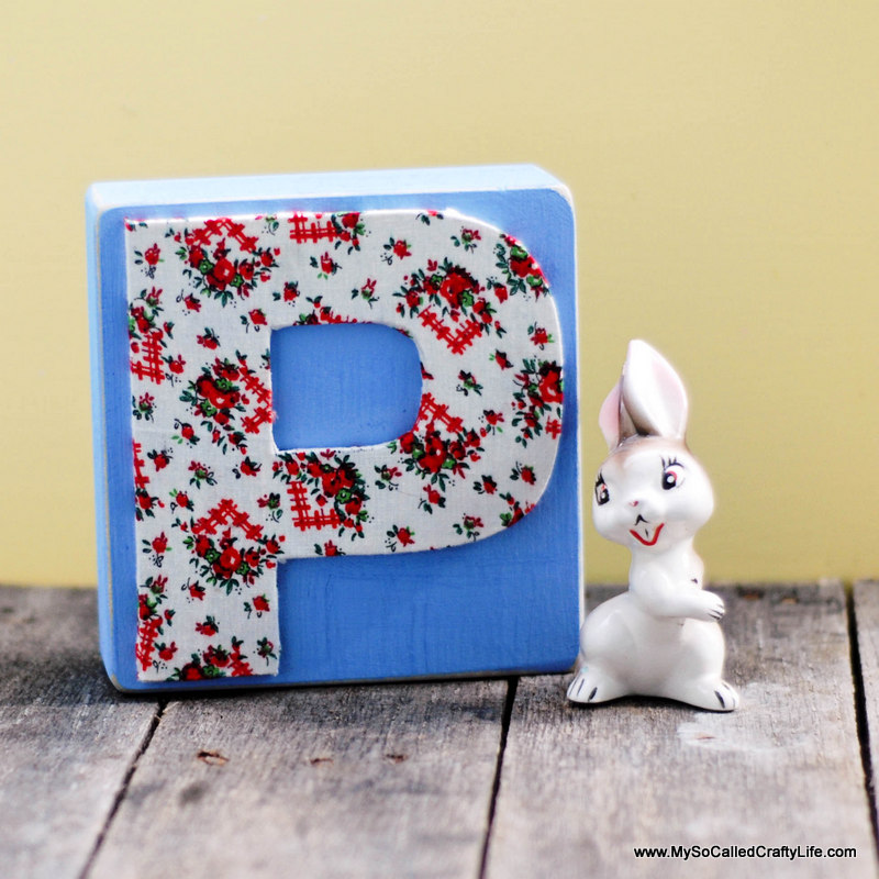diy fabric covered letter
