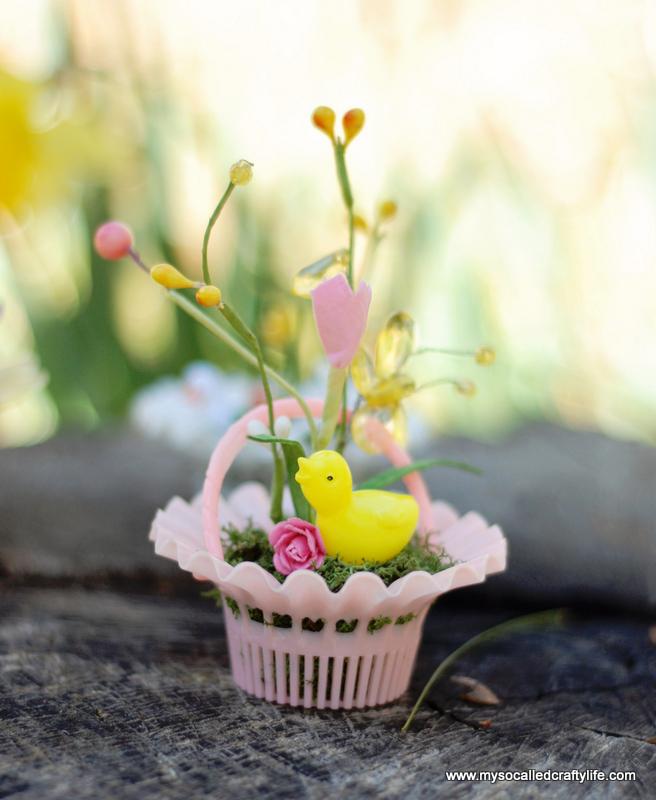 vintage plastic mini basket garden