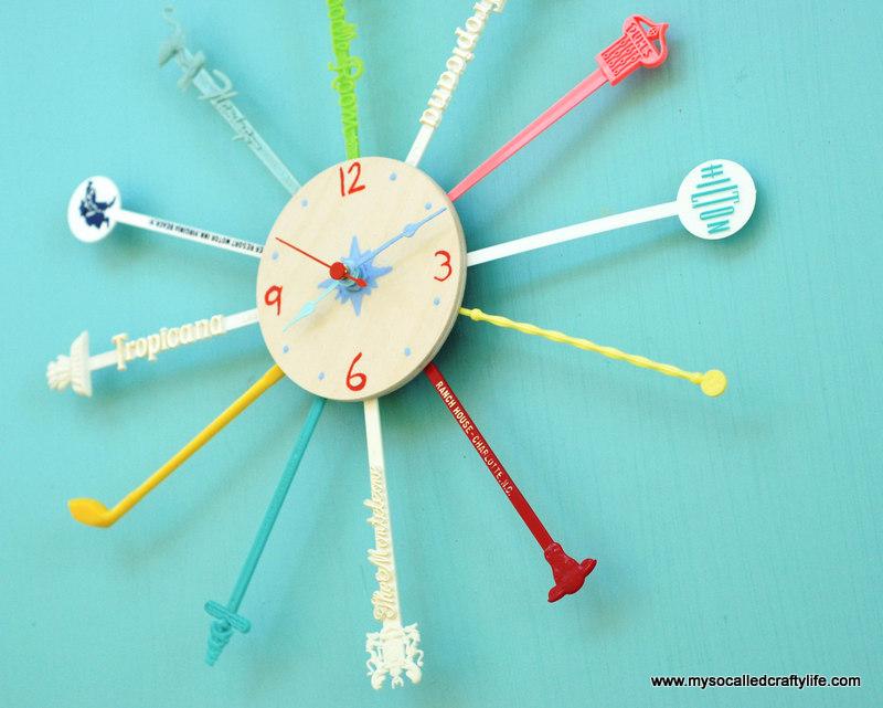 diy mid century clock