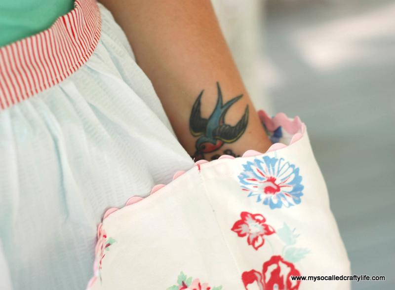 vintage tablecloth crafts