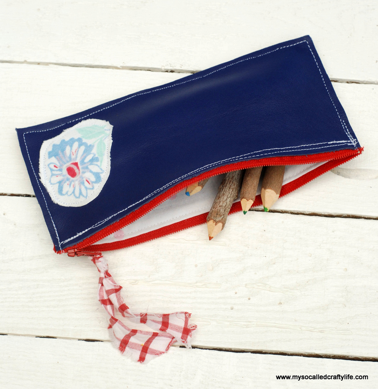 1diy leather pencil case