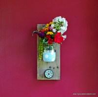 DIY Mason Jar Reclaimed Wood Wall Hanging - My So Called ...