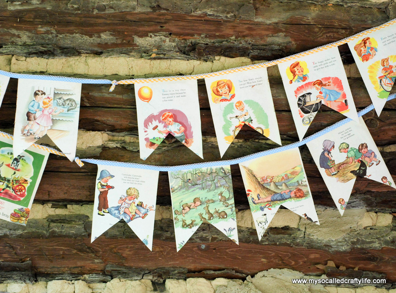 diy upcycled buntings