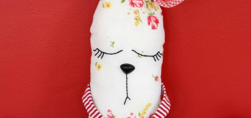 DIY Vintage Hanky Bunny Plushie