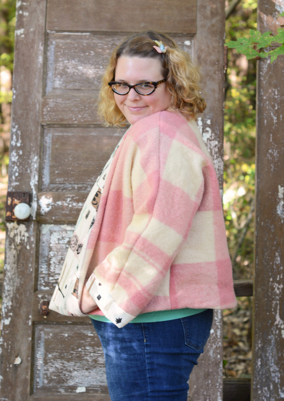 Retro Wool Blanket Swing Coat