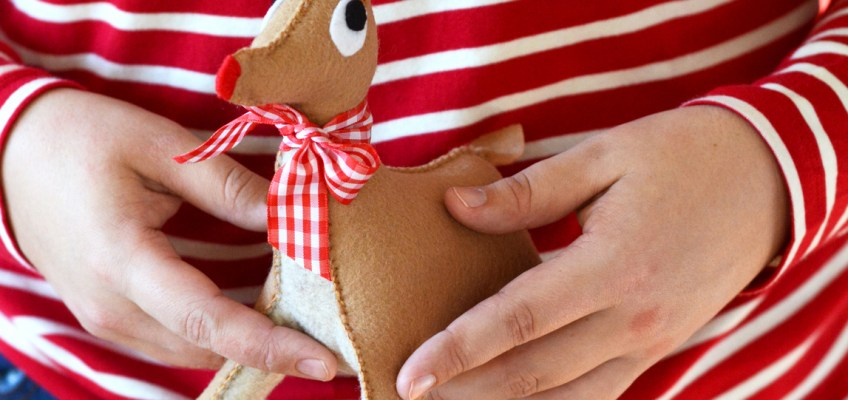 DIY Vintage Reindeer Toy Plush