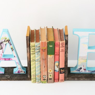 DIY Vintage Paint By Number Bookends