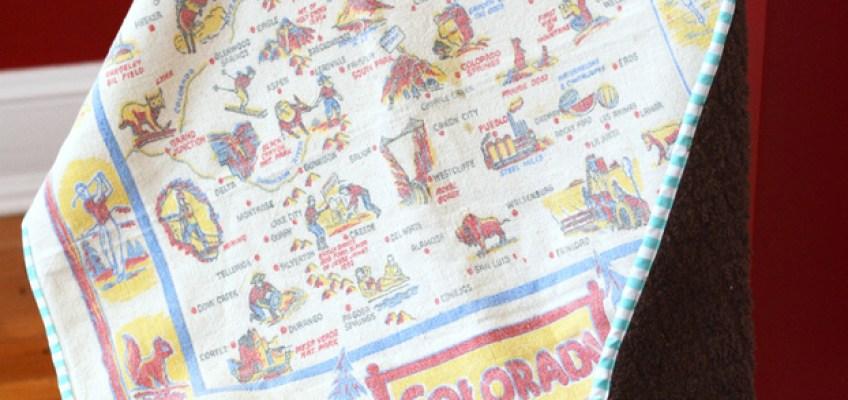 Vintage Tablecloth Baby Blanket