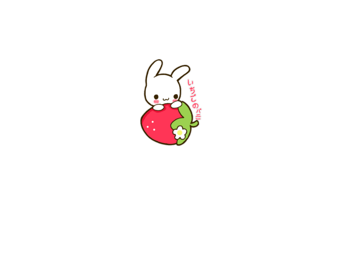 Cute Bunny Wallpaper Cartoon Mysoti Polkadotcute Strawberry Bunny Tees