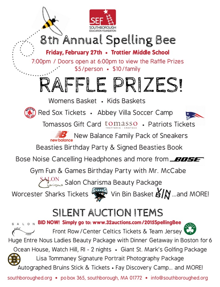 SEF Silent auction (and raffle) prizes Start the bidding now! - raffle ticket prizes