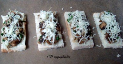 Bruschetta before grilling