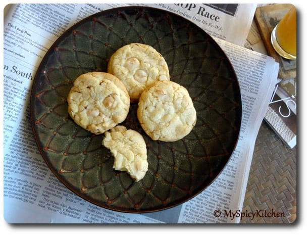 Blogging Marathon, Chocolate Mela, Bake Fest, White Chocolate chip Cokies, Almond cookies,