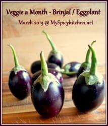 VFAM, Veggie a month, brinjal, eggplant
