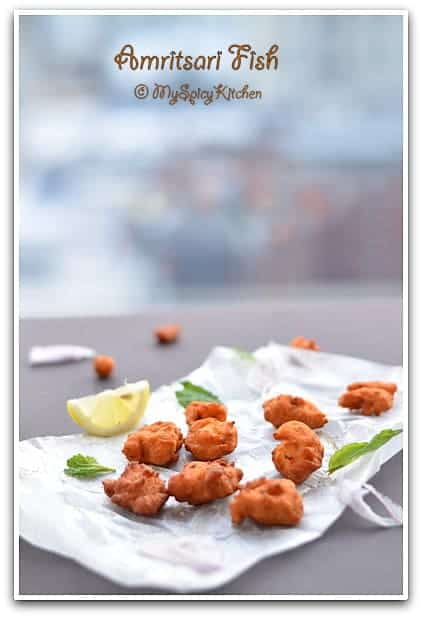 Amritsari fish fish fritters from punjab myspicykitchen for Amritsari cuisine