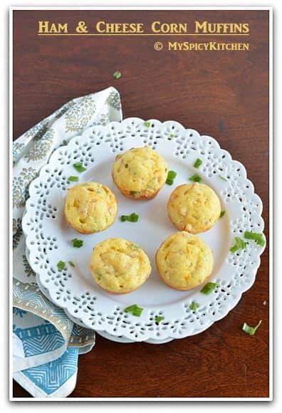 Blogging Marathon, Baking Marathon, FireUpYourOven, Savory Bake, Savory Muffin,  Ham Muffin, Cheese Muffin,
