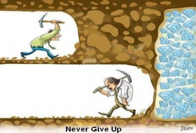 startup marketing campaign, don't give up