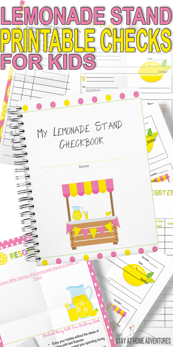 Free Printable Checks For Kids * My Stay At Home Adventures