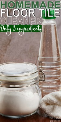 Easy Homemade Tile Floor Cleaner Recipe (3 Ingredients Only)
