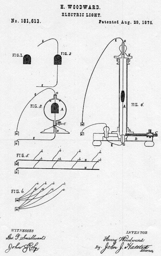 thomas edison light bulb diagram to edison39s electric lamp