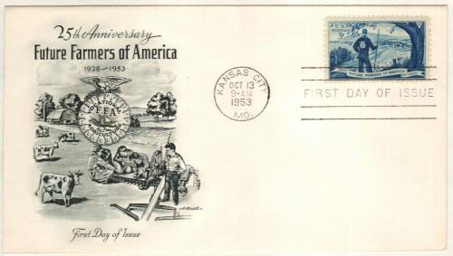 1953 3¢ Future Farmers of America for sale at Mystic Stamp Company - new farmers of america