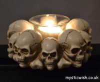 Skull Head Candle Holder