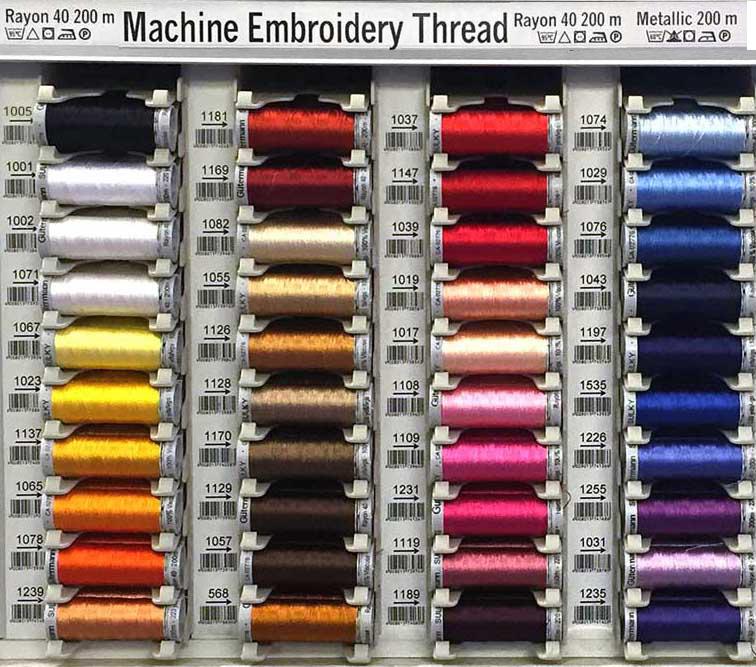 Gütermann Sulky Embroidery Thread Color Chart
