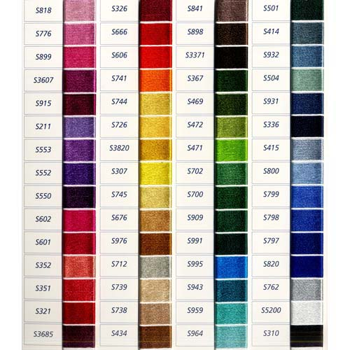 DMC Satin Color Chart List of colors Color threads Dmc Threads - general color chart template