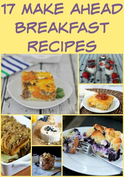 17 Make Ahead Breakfast Recipes - My Suburban Kitchen