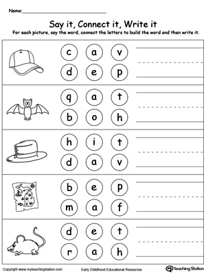 Kindergarten Phonics Printable Worksheets MyTeachingStation