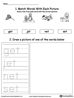 ET Word Family Phonics and Writing Practice MyTeachingStation
