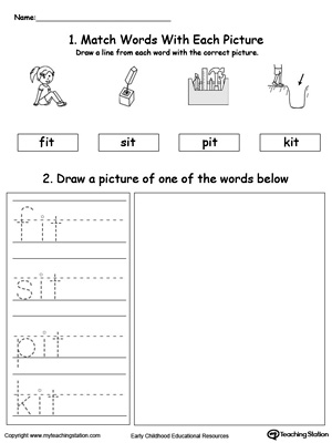 IT Word Family Phonics and Writing Practice MyTeachingStation