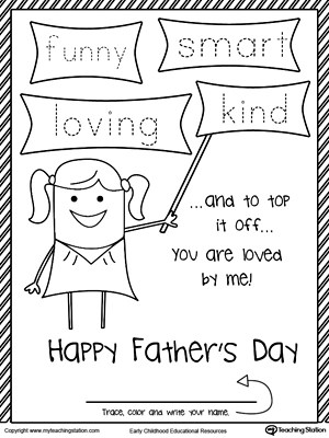 Father\u0027s Day Card from Daughter Four Words that Describes Dad