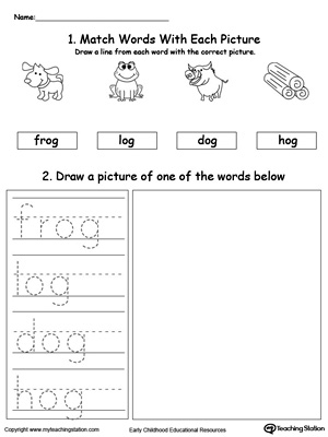 OG Word Family Phonics and Writing Practice MyTeachingStation