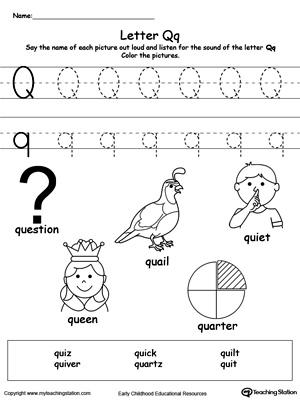 Words Starting With Letter Q MyTeachingStation