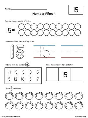 Number 19 Practice Worksheet MyTeachingStation