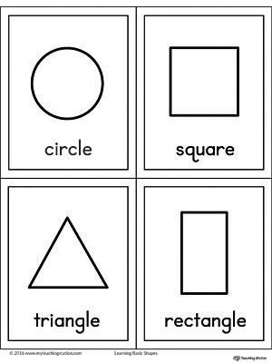 Basic Geometric Shapes Printable Chart MyTeachingStation