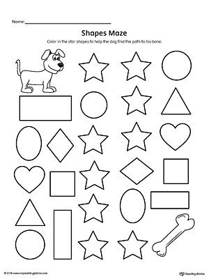 Star Shape Maze Printable Worksheet MyTeachingStation
