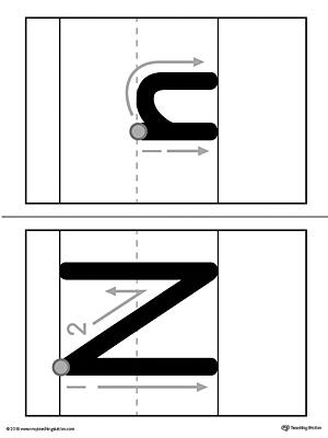 Alphabet Letter N Formation Card Printable MyTeachingStation
