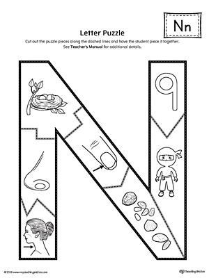 Letter N Puzzle Printable MyTeachingStation