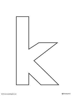 Lowercase Letter K Template Printable MyTeachingStation