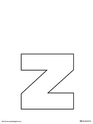 Lowercase Letter Z Template Printable MyTeachingStation