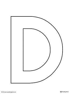 Uppercase Letter D Template Printable MyTeachingStation