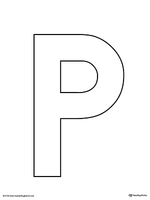 Uppercase Letter P Template Printable MyTeachingStation - p & l template