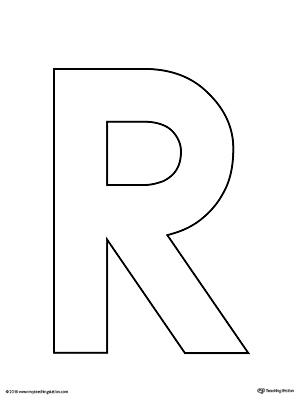 Uppercase Letter R Template Printable MyTeachingStation