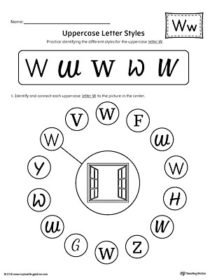 Picture Letter Match Letter W Worksheet MyTeachingStation