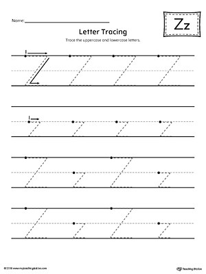 Letter Z Tracing Printable Worksheet MyTeachingStation