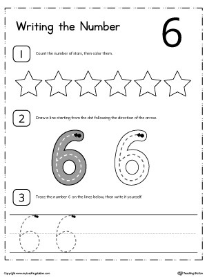 Kindergarten Writing Numbers Printable Worksheets - Numbers In Writing