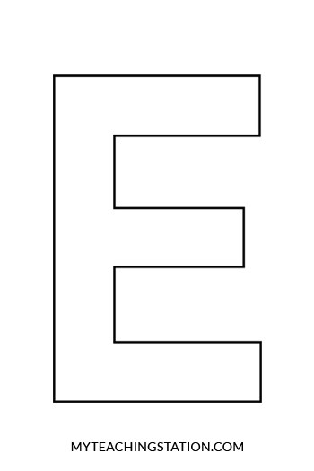Letter E Craft Elephant MyTeachingStation - elephant cut out template